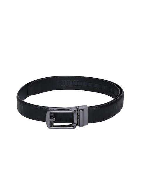 Louis Philippe Men Black Solid Reversible Belt