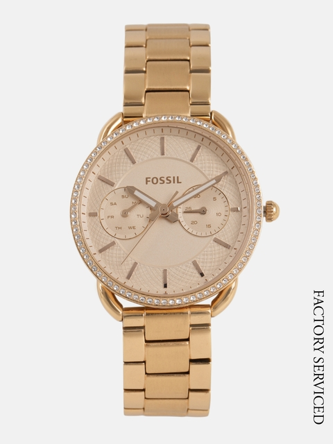 Fossil Women Peach-Colored Analogue Factory Serviced Watch ES4264