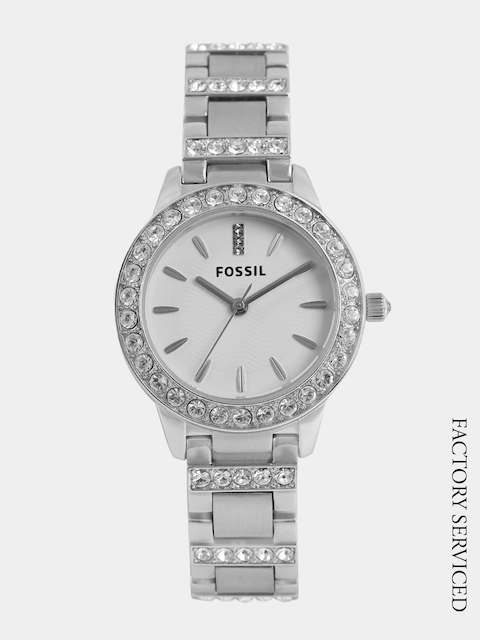 Fossil Women White Analogue Factory Serviced Watch ES2362