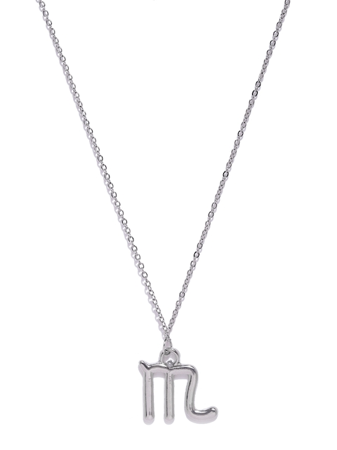 Ayesha Silver-Toned Scorpio Shaped Pendant With Chain