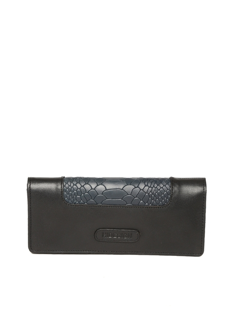 Hidesign Women Black & Navy Blue Two Fold Wallet