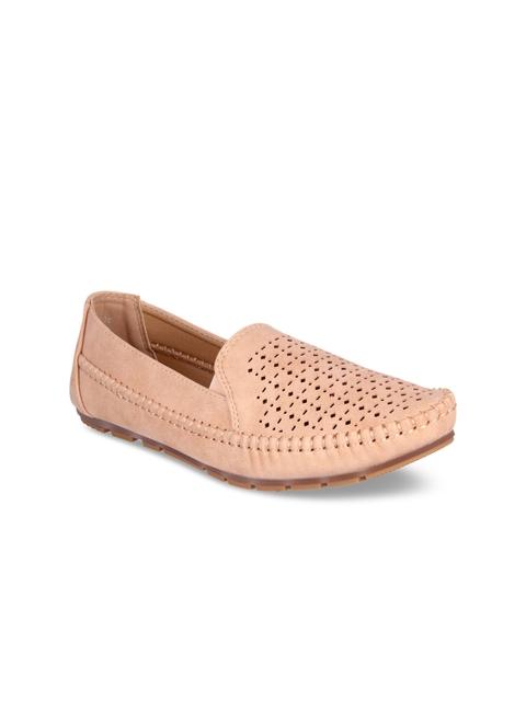 Flat n Heels Women Pink Loafers