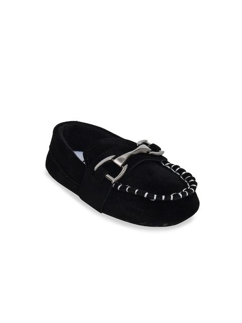 Kiwi Boys Black Suede Loafers