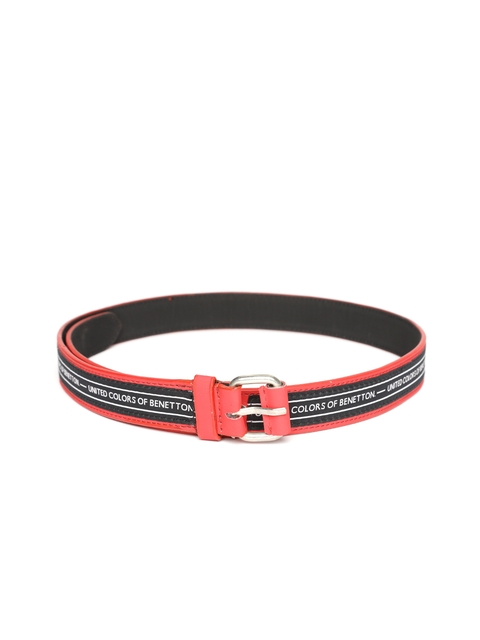 United Colors of Benetton Women Red & Black Patterned Belt