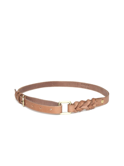 United Colors of Benetton Women Brown Solid Leather Belt