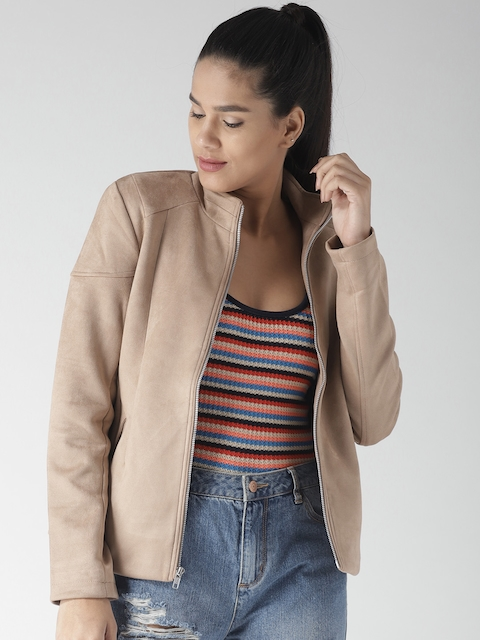 Fort Collins Women Beige Solid Tailored Jacket