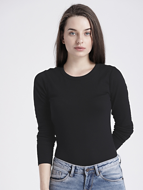 GAP Womens Black Modern long sleeve crew tee