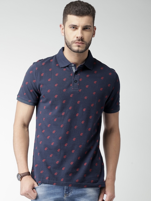 Celio Men Navy Polo T-shirt  available at myntra for Rs.759