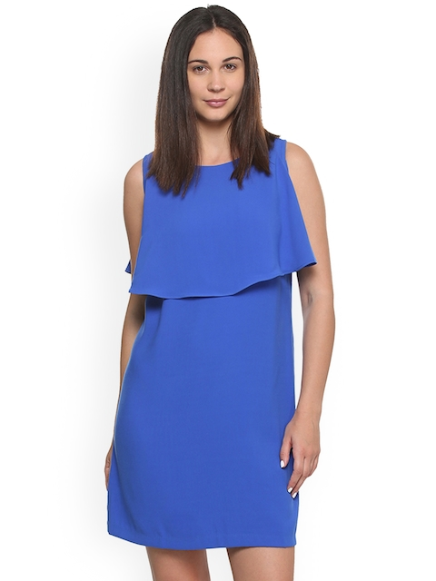 Van Heusen Woman Women Blue Solid A-Line Dress