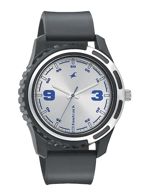 Fastrack Men Silver-Toned Dial Watch 3114PP02