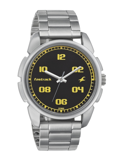 Fastrack Men Black Dial Watch 3124SM02