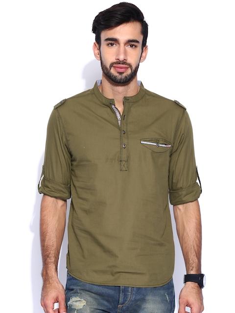 SPYKAR Olive Green Casual Shirt