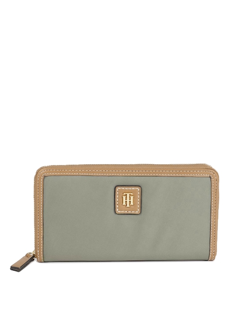Tommy Hilfiger Women Khaki Solid JULIA-LG Zip Around Wallet