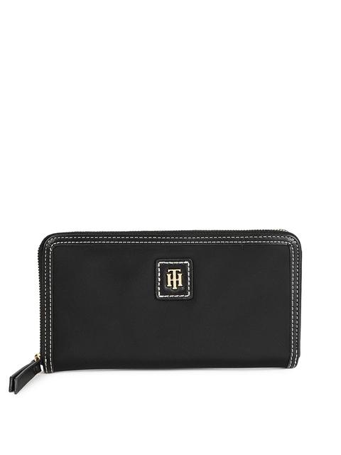 Tommy Hilfiger Women Black Solid JULIA-LG Zip Around Wallet