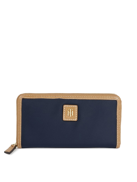Tommy Hilfiger Women Navy Blue Solid JULIA-LG Zip Around Wallet