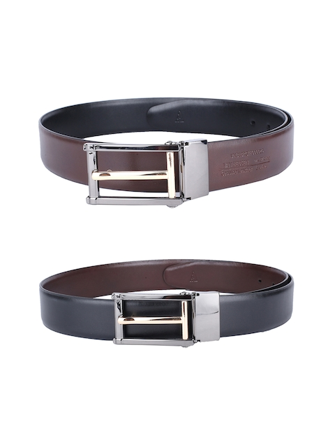 Van Heusen Men Black & Brown Reversible Leather Belt