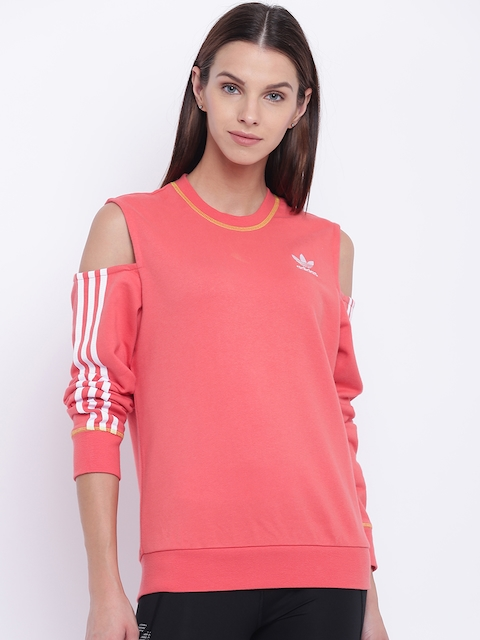 Adidas Originals Orange Cut-Out Sweatshirt
