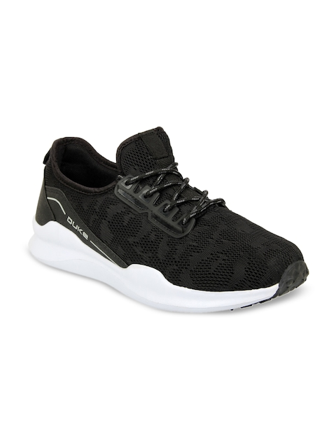 Duke Men Black Walking Shoes