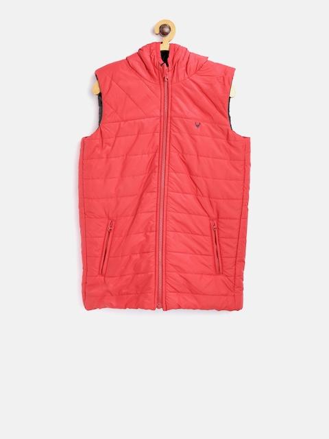 Allen Solly Junior Boys Red Hooded Reversible Padded Jacket