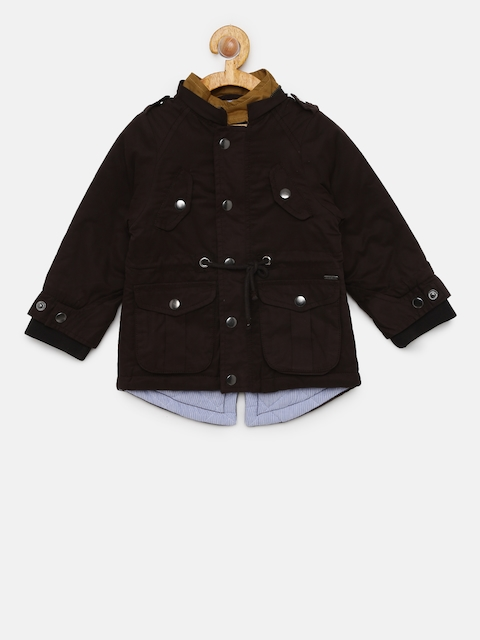 Allen Solly Junior Boys Black Solid Jacket