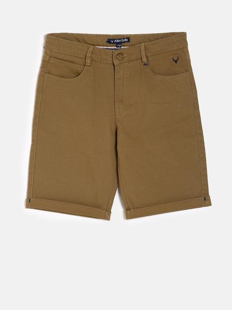 Allen Solly Junior Boys Brown Solid Regular Fit Chino Shorts