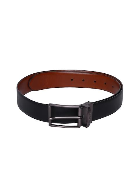 U.S. Polo Assn. Men Black & Brown Solid Leather Reversible Belt