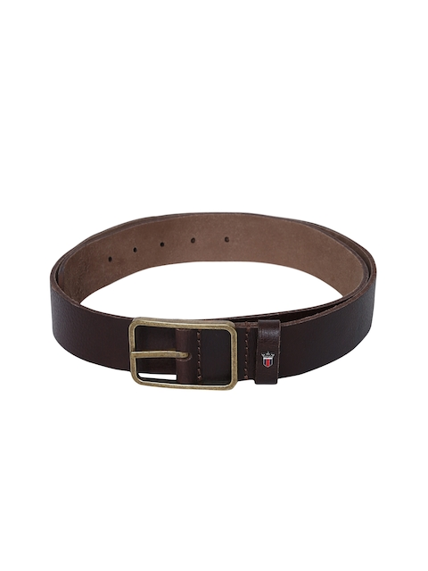 Louis Philippe Men Black Solid Leather Belt