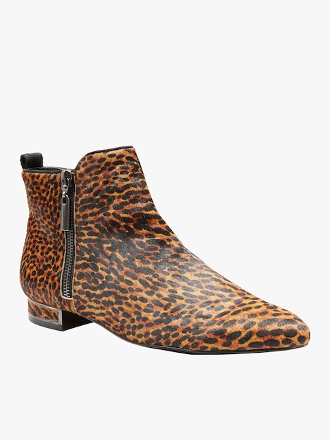next Women Brown Printed Synthetic High-Top Flat Boots