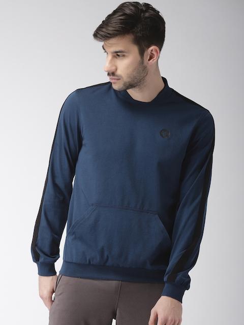 2GO Men Navy Blue Solid Sweatshirt