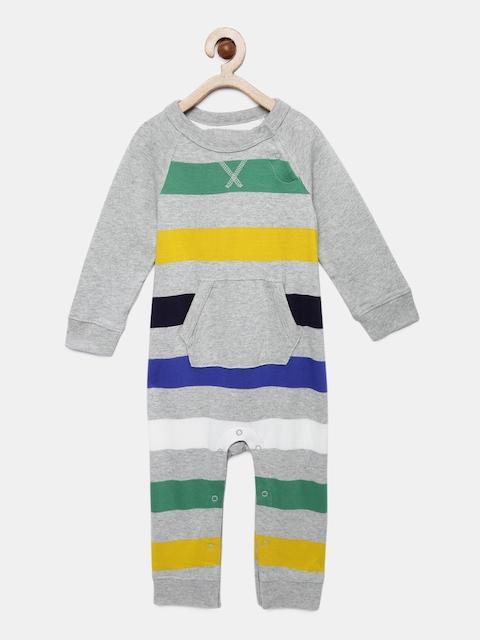 GAP Baby Boys Grey Raglan Pocket One-Piece
