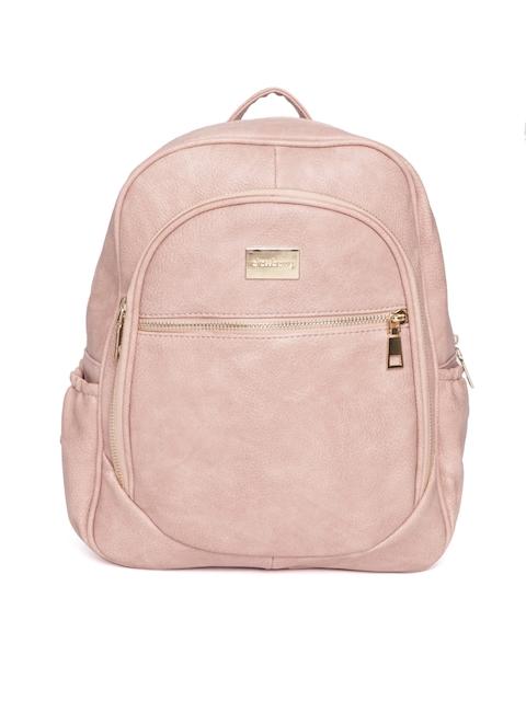 DressBerry Women Dusty Pink Solid Backpack