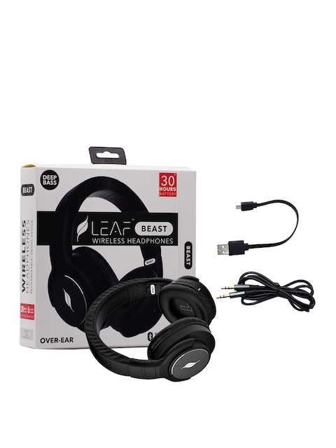 LEAF Beast Unisex Wireless Bluetooth Over Ear Headphones with Mic