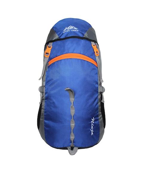 MOUNT TRACK Unisex Ninja Blue & Grey Colourblocked Hiking Rucksack