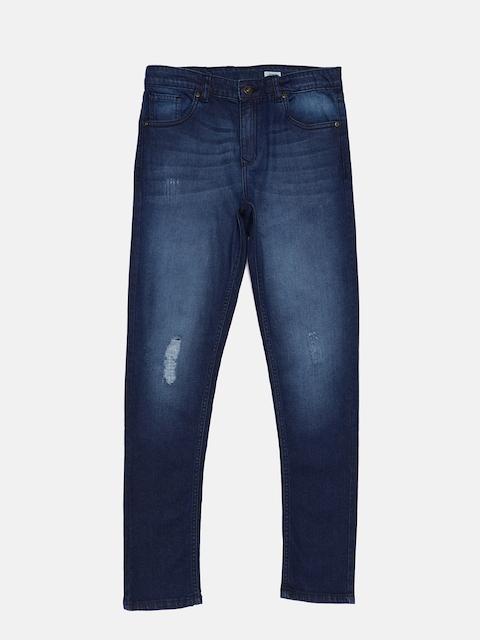 Bossini Boys Blue Skinny Fit Mid-Rise Low Distress Jeans