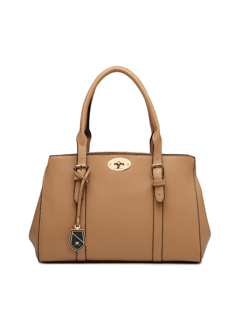 Diana Korr Brown Solid Handheld Bag
