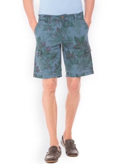 GANT Men Blue Printed Regular Fit Shorts