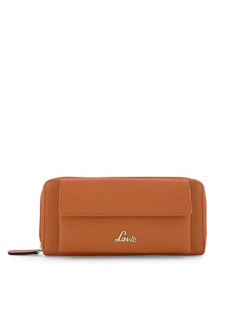 Lavie Women Brown Solid Two Fold Wallet