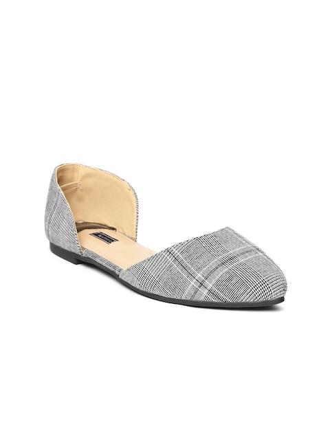 Van Heusen Women Grey Checked Flats