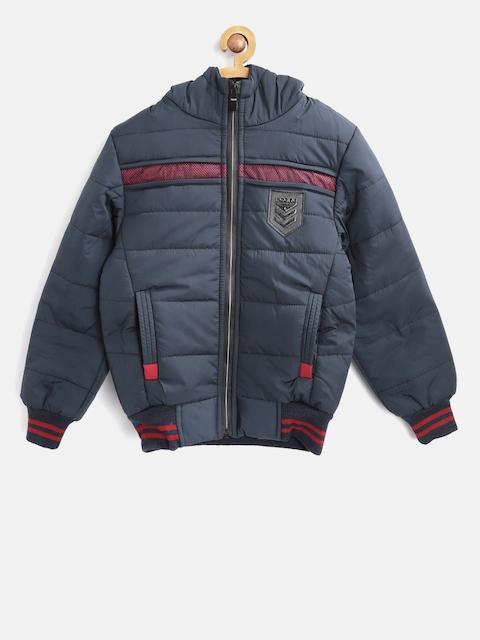 Fort Collins Boys Navy Blue Solid Bomber Jacket