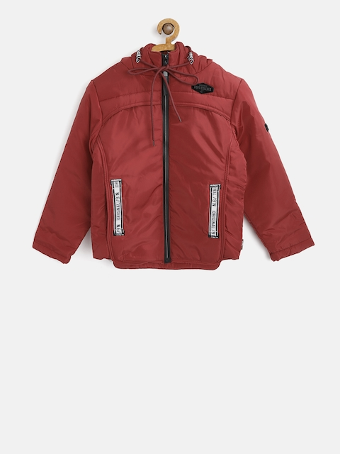 Fort Collins Boys Red Solid Padded Jacket