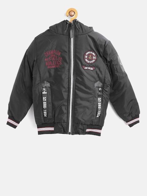 Fort Collins Boys Black Solid Bomber Jacket