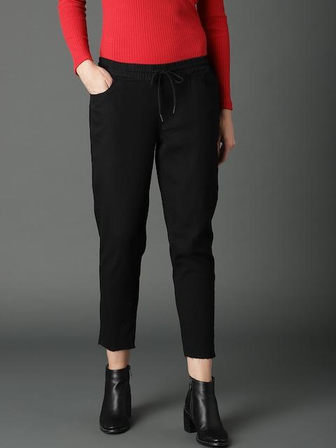 Roadster Women Black Slim Fit Mid-Rise Jeans