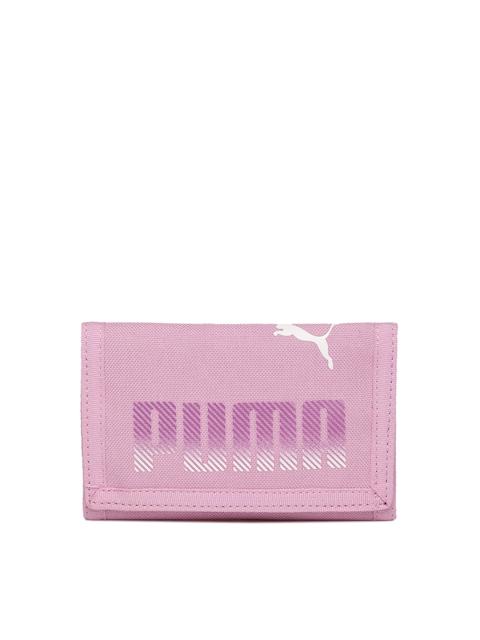 Puma Lavender Printed Three Fold Wallet
