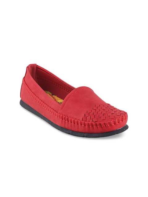 Mochi Women Red Loafers