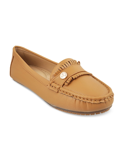 Mochi Women Tan Brown Loafers
