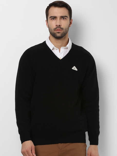 Monte Carlo Men Black Solid Pullover