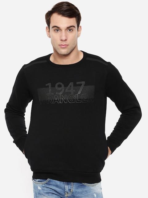 Wrangler Men Black Printed Sweatshirt