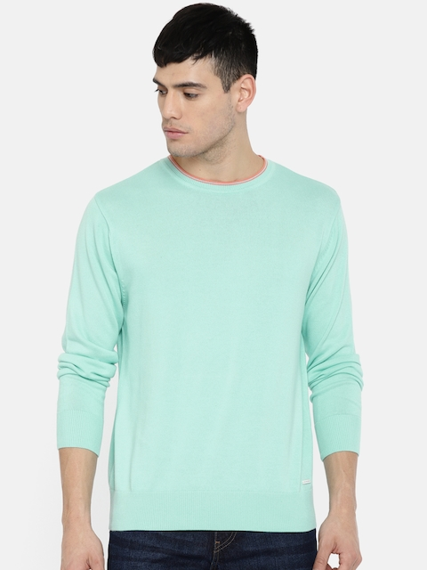 Wrangler Men Blue Solid Pullover