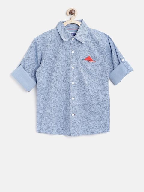 02f4c2ad1c79d9 60%off 612 league Boys Blue Regular Fit Paisley Print Casual Shirt