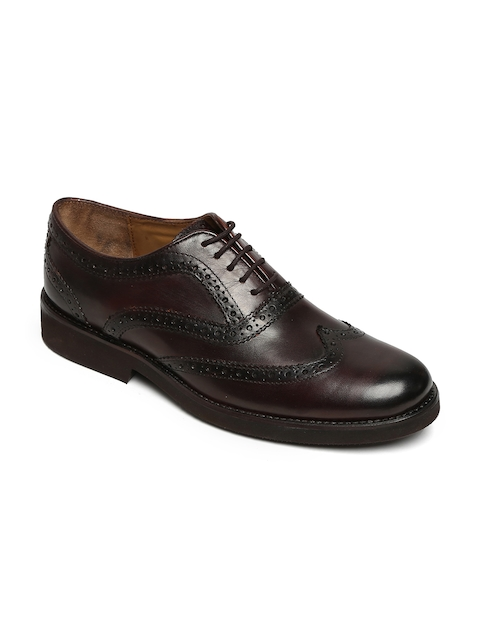 BRUNE Men Black Formal Leather Brogues
